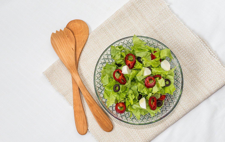 Alder Wood Salad Servers Fittsmile